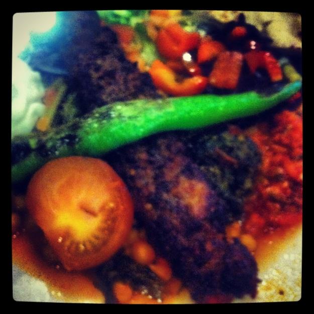 Grönsakskebab på Amida Kolgrill