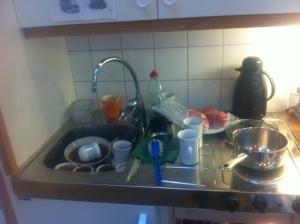Stökigt kök på kontoret