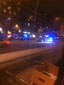 Aktion på söder igår - polis stoppar pickup