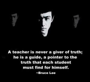 Bruce Lee om lärare