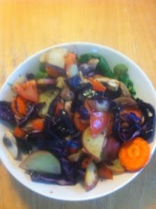 Lunch grönsaker och potatis