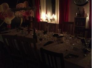 Nyårsmiddagsbordet