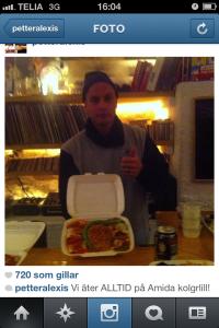 Petter äter Amida igen