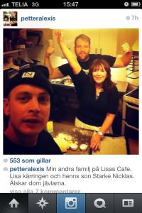 Petter på Lisas Café (med Nicklas som gästar Panda ibland)