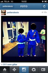 Petters kids tränar BJJ