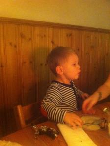 Söndagsfamiljemiddag - Hugo vill ha paj