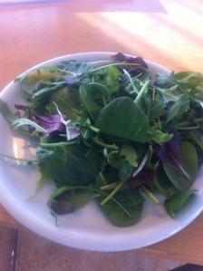 Lunch 1. Babyspenat och blandad fransk sallad