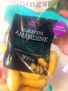 Lunch - ny sorts potatis - Amandine