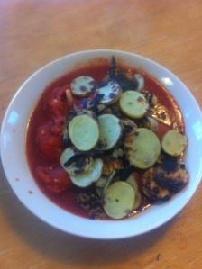 Lunch - potatis och tomatsås