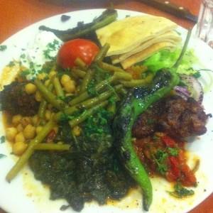Amidakolgrill - grönsakskebab i torsdags med brorsan