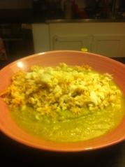 Broccolisppa med stekt torsk