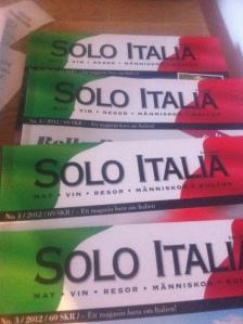 Gamla nummer av Solo Italia