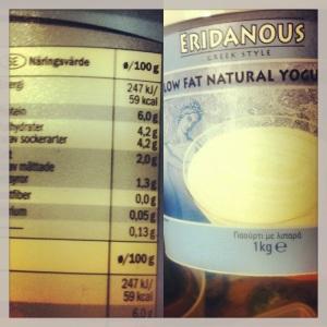 Grym grekisk yoghurt från Lidl - näringsvärden