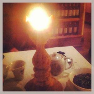 Ljus på finrestaurangen