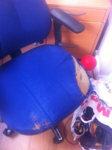 Skrivbordsstol med omnejd