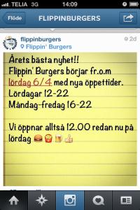 Flippiburgers - nya öppettider