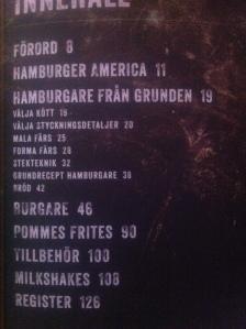 Hamburgare - Flippin Burgers innehållsförteckning