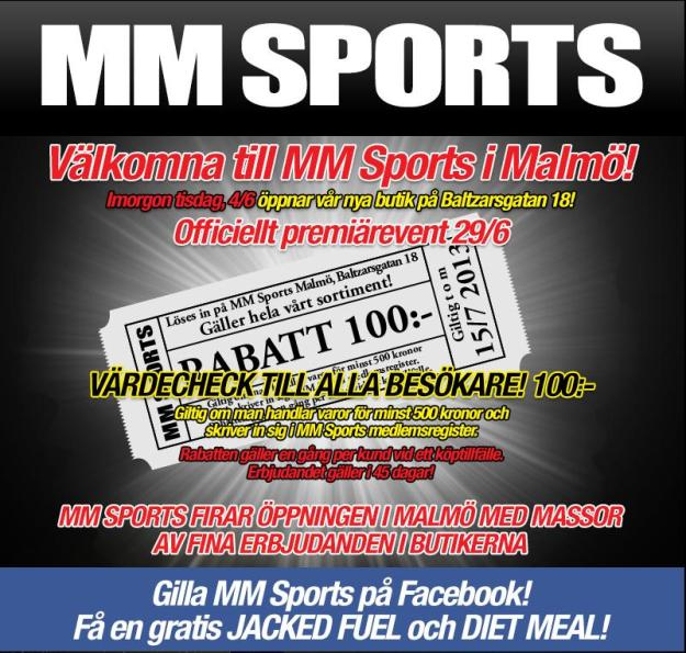 MM sports goes Malmoe