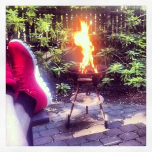 Nationaldagsfirande - nya sneakers och grill