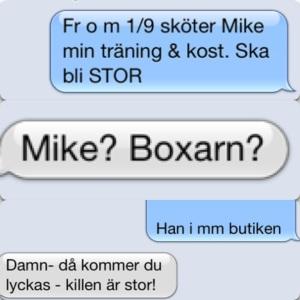 SMS-ande med bror om nya coachen